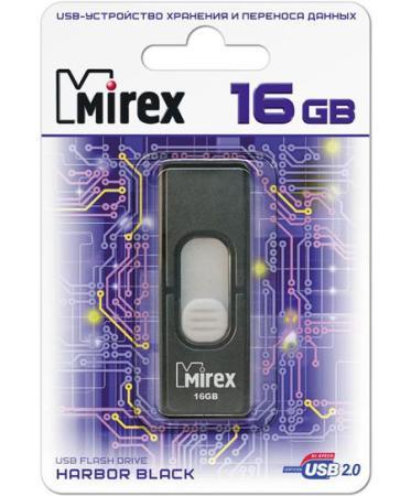 лучшая цена Флеш накопитель 16GB Mirex Harbor, USB 2.0, Черный