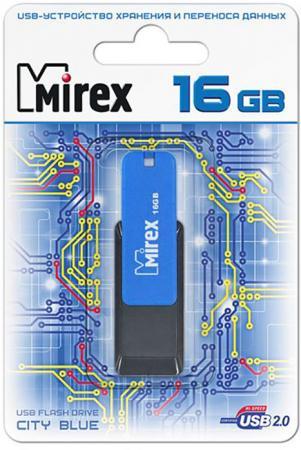 Флеш накопитель 16GB Mirex City, USB 2.0, Синий