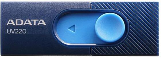 Фото - Флеш накопитель 16GB A-DATA UV220, USB 2.0, голубой/синий флеш накопитель 64gb a data ud230 usb 2 0 cиний