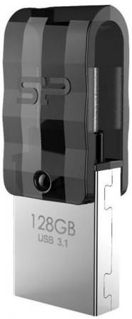 Флеш накопитель 128Gb Silicon Power Mobile C31, OTG, USB 3.1/Type-C, Черный