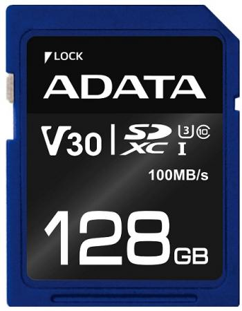 Флеш карта SD 128GB A-DATA Premier Pro SDXC Class 10 UHS-I U3 V30S 95/60 MB/s ASDX128GUI3V30S-R a data microsdhc class 10 uhs 1 ausdh8guicl10 r