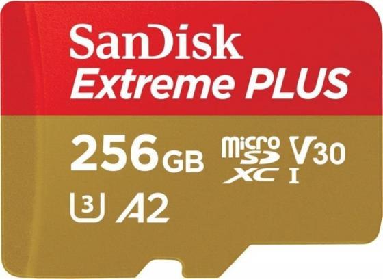 Флеш карта microSD 256GB SanDisk microSDXC Class 10 UHS-I A2 C10 V30 U3 Extreme Plus (SD адаптер) 170MB/s все цены