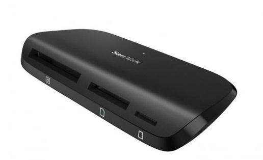 Устройство чтения/записи флеш карт SanDisk ImageMate Pro, SD/microSD/CompactFlash, USB 3.0, Черный micro sd tf устройство чтения карт памяти usb 2 0 mini protable