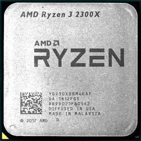 Процессор RYZEN X4 R3-2300X SAM4 OEM 65W 3500 YD230XBBM4KAF AMD