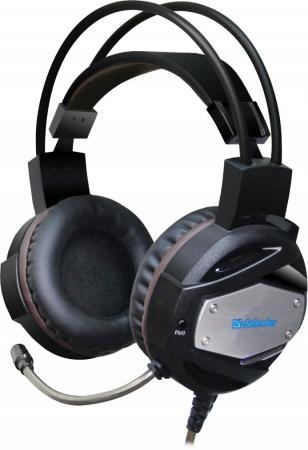 лучшая цена Игровая гарнитура проводная Defender Warhead G-500 черный 64151