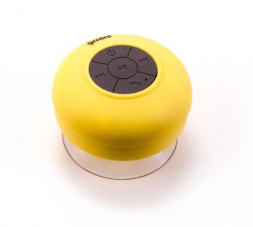 Колонка Bluetooth Gmini GM-BTS-025 3 Вт, жёлтая, водонепроницаемая gm bts m21