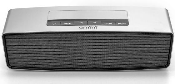 Колонка Bluetooth Gmini GM-BTS-M21, 3Вт х 2, серебристая