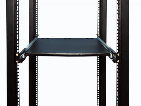 Полка 19 выдвижная для клавиатуры, чёрная L=620-750 мм, с направляющими, NT SKS2 B