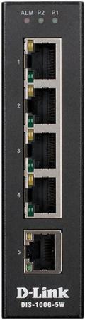 Коммутатор D-Link DIS-100G-5W/A1A Промышленный неуправляемый коммутатор с 5 портами 10/100/1000Base-T, функцией энергосбережения и поддержкой QoS цена