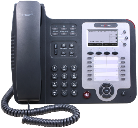 SIP-телефон Escene ES330-PEGV4 3 SIP аккаунта, 132x64 LCD-дисплей, 8 программируемых клавиш, 12 клавиш быстрого набора BLF, XML/LDAP, регулируемая под sitemap 165 xml
