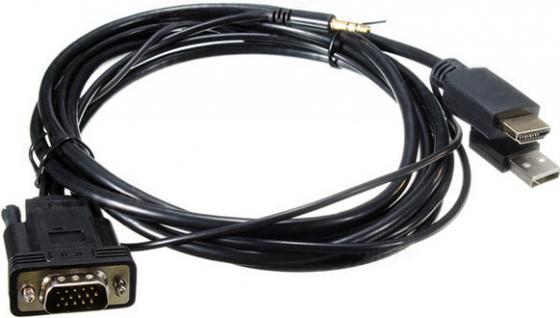 Кабель HDMI 1м ORIENT C700 круглый черный 30700