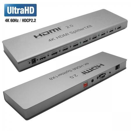 Фото - Разветвитель Orient HSP0108H-2.0, HDMI 4K Splitter 1->8, HDMI 2.0/3D, UHDTV 4K/ 60Hz (3840x2160)/HDTV1080p, HDCP2.2, EDID управление, RS232 порт, IR в скуднова наталья ивановна управление отделом продаж