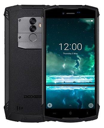 Смартфон Doogee S55 Black, 5.5'' 18:9 1440x720, 1.5GHz, 8 Core, 4GB RAM, 64GB, up to 128GB flash, 13Mpix+8Mpix/5Mpix, 2 Sim, 2G, 3G, LTE, BT, Wi-Fi, GPS, Glonass, Micro-USB, 5500mAh, Android 8, 265g, 161.32х77.8х14.15, IP68