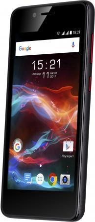 Смартфон Fly FS458 Stratus 7 черный 4.5 8 Гб Wi-Fi GPS 3G Bluetooth смартфон ark benefit s503 черный 5 8 гб wi fi gps 3g