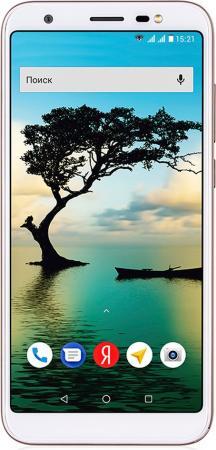 Телефон сотовый Fly Slimline Champagne, 5.45'' 18:9 1440x720, 1.3GHz, 4 Core, 1GB RAM, 8GB, up to 64GB flash, 8Mpix/5Mpix, 2 Sim, 2G, 3G, LTE, BT v4.0, WiFi 802.11 a/b/g/n, GPS, Micro-USB, 2500mAh, Android 7.0, 146g, 149x70.9x8.6
