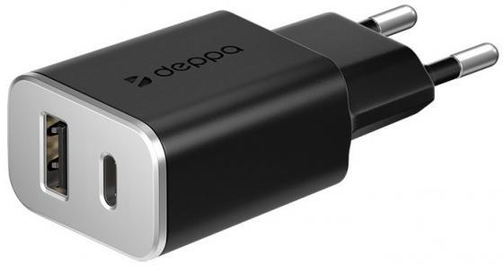 Сетевое зарядное устройство Deppa 11386 3.4A черный зарядное