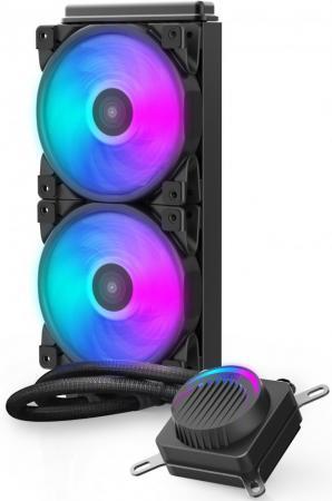 Комплект водяного охлаждения PCCooler GI-AH240U HALO RGB LGA2066/2011/1366/115х/775/AM4/FM1/2/2+/AM2/2+/3/3+ (8шт/кор, TDP 250W, 4 pin 12V RGB подсветка, 2х120mm PWM VortexPro FAN) RET комплект водяного охлаждения pccooler gi ah360c corona rgb lga2066 2011 1366 115х 775 am4 fm1 2 2 am2 2 3 3 8шт кор tdp 350w 4 pin 12v rgb подсветка 3х120mm pwm vortexpro fan ret