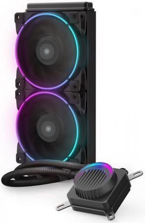 Комплект водяного охлаждения PCCooler GI-AH240C CORONA FRGB LGA2066/2011/1366/115х/775/AM4/FM1/2/2+/AM2/2+/3/3+ (8шт/кор, TDP 250W, 3 pin 5V RGB подсветка, 2х120mm PWM VortexPro FAN) RET комплект водяного охлаждения pccooler gi ah360c corona rgb lga2066 2011 1366 115х 775 am4 fm1 2 2 am2 2 3 3 8шт кор tdp 350w 4 pin 12v rgb подсветка 3х120mm pwm vortexpro fan ret