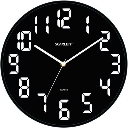 Часы настенные Scarlett SC 55BL цена