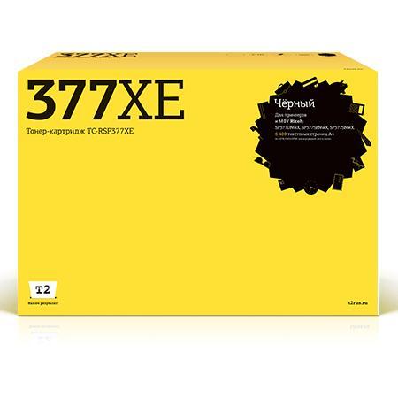 Фото - Картридж T2 TC-RSP377XE чёрный (black) 6400стр. для Ricoh Aficio SP 377DNwX/377SFNwX/377SNwX картридж t2 tc rsp101u аналог type sp101 sp 110e для ricoh aficio sp100 100su 100sf 111 111sf 111su 2000стр чёрный с чипом