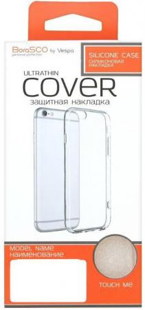 цена Накладка BoraSCO Ultrathin Cover для iPhone 6 iPhone 6S iPhone 8 iPhone 7 прозрачный
