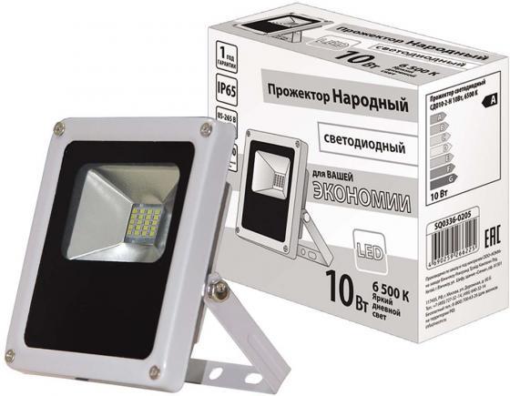 Прожектор светодиодный ТДМ SQ0336-0205 СДО10-2-Н 10Вт 6500К серый прожектор светодиодный тонкий 10вт белый