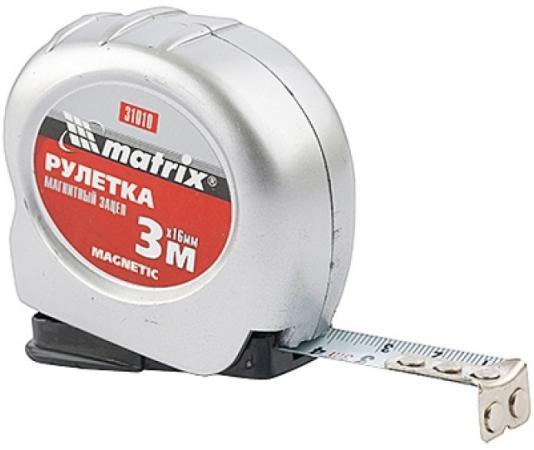 Рулетка MATRIX 31010 magnetic 3мх16мм магнитный зацеп рулетка matrix 31002