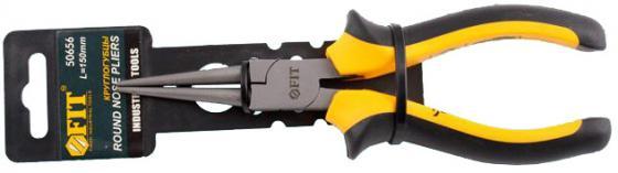 Утконосы FIT 50656 круглогубцы стайл черно-желтая ручка молибденовое покрытие 165мм бокорезы fit 50606 стайл черно желтая ручка молибденовое покрытие 160мм