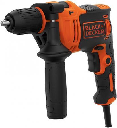 цена на Дрель ударная BLACK & DECKER BEH710-QS Omega 710Вт 13мм БЗП набор сверел