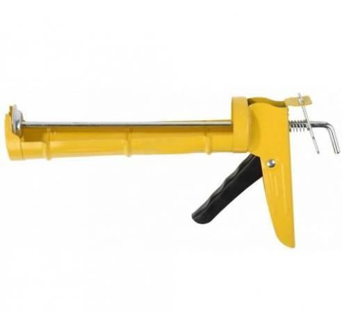 Пистолет для герметика STAYER 0660 310мл standard полукорпусной гладкий шток пистолет для герметика stayer 0666 310мл master скелетный усиленный