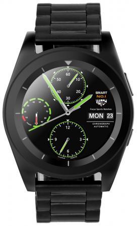 Умные часы NO.1 G6 черные, ремешок сталь