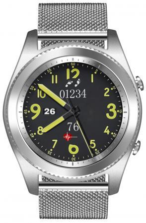 Умные часы NO.1 S9 серебро, ремешок сталь