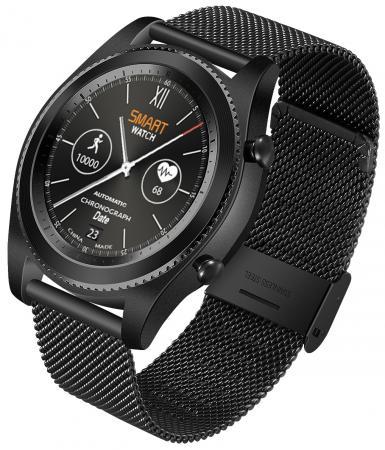Умные часы NO.1 S9 черные, ремешок сталь
