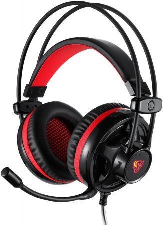 Игровая гарнитура проводная Motospeed H11 черный красный игровая гарнитура проводная qumo stealth черный 24038