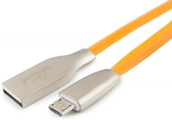 Фото - Кабель USB 2.0 microUSB 1м Cablexpert Gold ромбовидный оранжевый CC-G-mUSB01O-1M кабель microusb 1 8м cablexpert cc u musb01gd 1 8m круглый золото