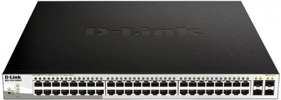 Коммутатор D-Link DGS-1210-52MPP 48G 4SFP 48PoE 740W настраиваемый