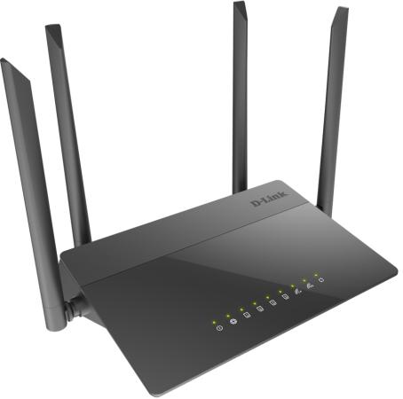 Беспроводной маршрутизатор D-Link DIR-841 867Mbps 2.4 ГГц 5 ГГц 4xLAN черный беспроводной маршрутизатор mikrotik rb4011igs 5hacq2hnd in 802 11aс 1734mbps 2 4 ггц 5 ггц 10xlan черный