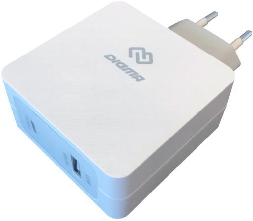 Сетевое зарядное устройство Digma DGPD-45W-WG 5.5A USB-C белый зарядное