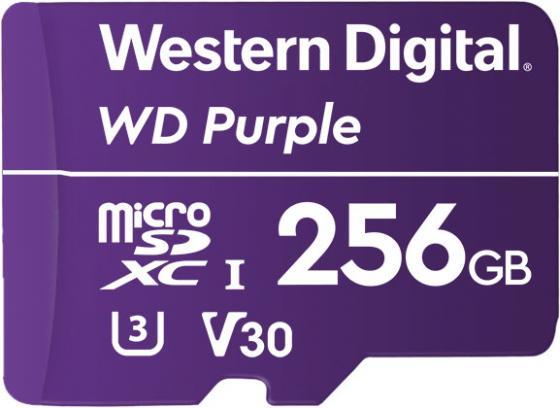 Фото - Флеш карта microSDXC 256Gb Class10 WD WDD256G1P0A Purple w/o adapter москва карта автодорог 2017 станции мцк на новой схеме метро