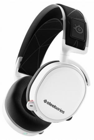 Игровая гарнитура беспроводная Steelseries Arctis 7 2019 Edition белый черный гарнитура steelseries siberia 800 черный 61302