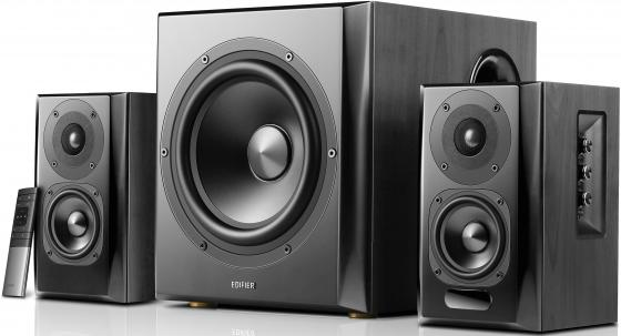 Колонки Edifier S351DB Black <2.1,150W RMS, дерево, Bluetooth aptX> цена и фото