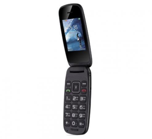 Телефон Fly Flip черный 2.4 Bluetooth телефон