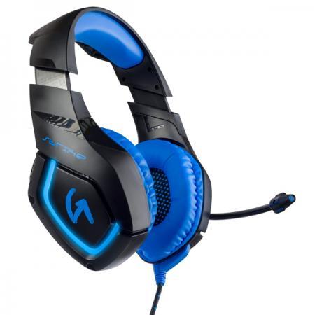 Игровая гарнитура проводная Perfeo GUARD черный синий PF_A4429 игровая гарнитура проводная perfeo guard черный синий pf a4429