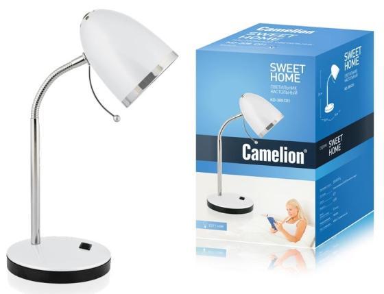 цена на Camelion KD-308 C01 белый (Светильник настольный,230V 40W E27)