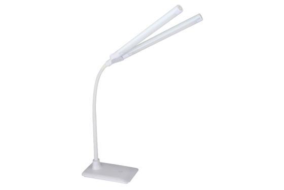 Camelion KD-794 C01 белый LED (Свет-к наст.,10 Вт, 2 плаф.,230В, сенс.вкл-е, 4 ур.ярк,4000К) цена