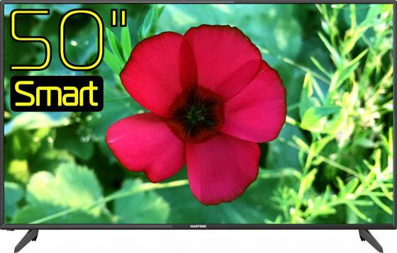 Фото - Телевизор LED 50 Hartens HTV-50F01-T2C/A7/B черный 1920x1080 60 Гц Wi-Fi Smart TV 3 х HDMI 2 х USB RJ-45 CI+ телевизор led 43 sony kdl43wf804br черный серебристый 1920x1080 50 гц smart tv wi fi rj 45 bluetooth