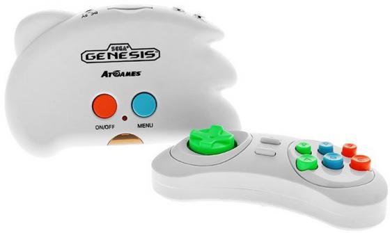 SEGA Genesis Nano Trainer + 40 игр (геймпад, AV кабель) белый [ConSkDn33]