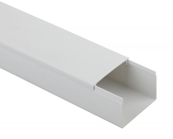 ЭРА Б0031132 Кабель-канал KK-W-20-10 20x10 белый, длина 2 м