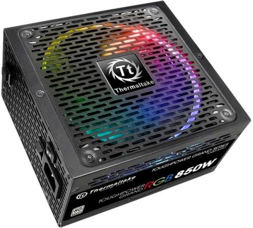 Блок питания ATX 850 Вт Thermaltake ToughPower Grand RGB PS-TPG-0850F1FAPE-1 блок питания thermaltake toughpower grand rgb 750w ps tpg 0750fpcgeu r v2 4 a pfc 80 plus gold fan 14 см fully modular retail