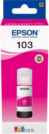 Картридж струйный Epson 103M C13T00S34A пурпурный (65мл) для Epson L3100/3110/3150